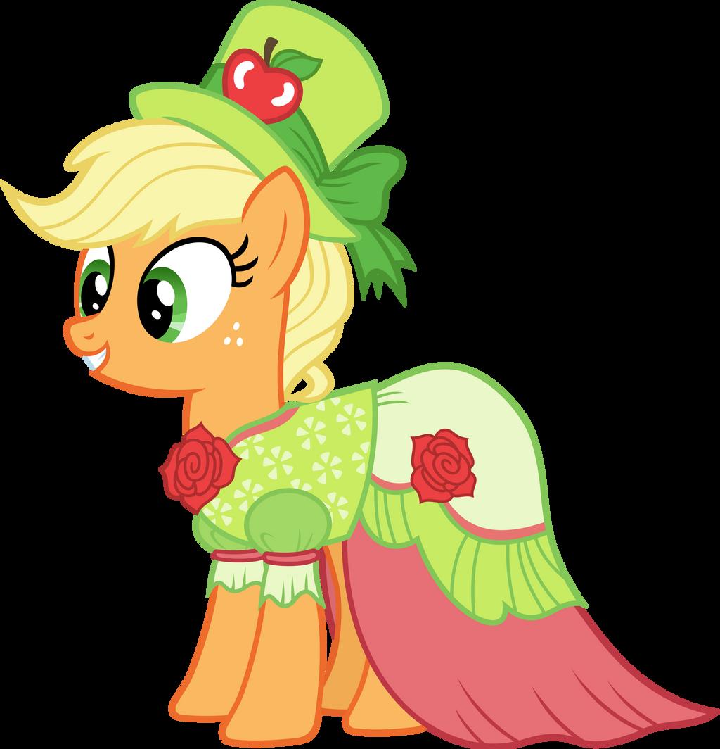 Applejack in Gala dress by Magister39