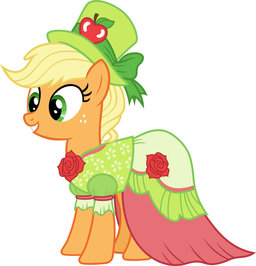 applejack in gala dress by magister39 on deviantart