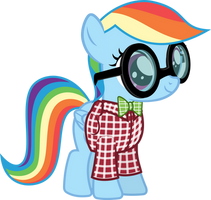 Filly Nerd Dash by Magister39