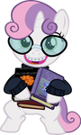 Bookworm Sweetie Belle by Magister39