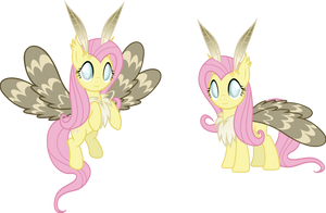 Nightmareverse - Moth Pony Fluttershy by Magister39