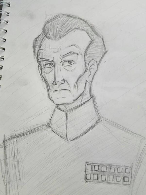Grand Moff Tarkin Sketch by zred99