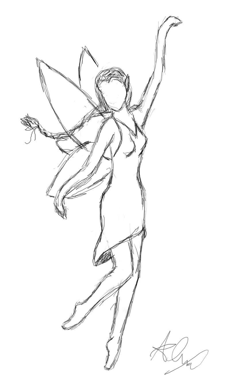 Fairy sketch by godshorsegirl on deviantart for Fairy painting easy