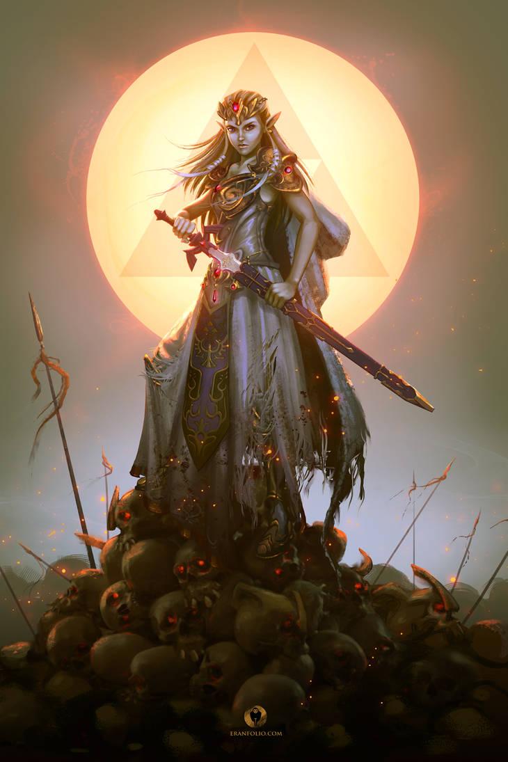 Zelda Conquers the Dark World by EranFowler