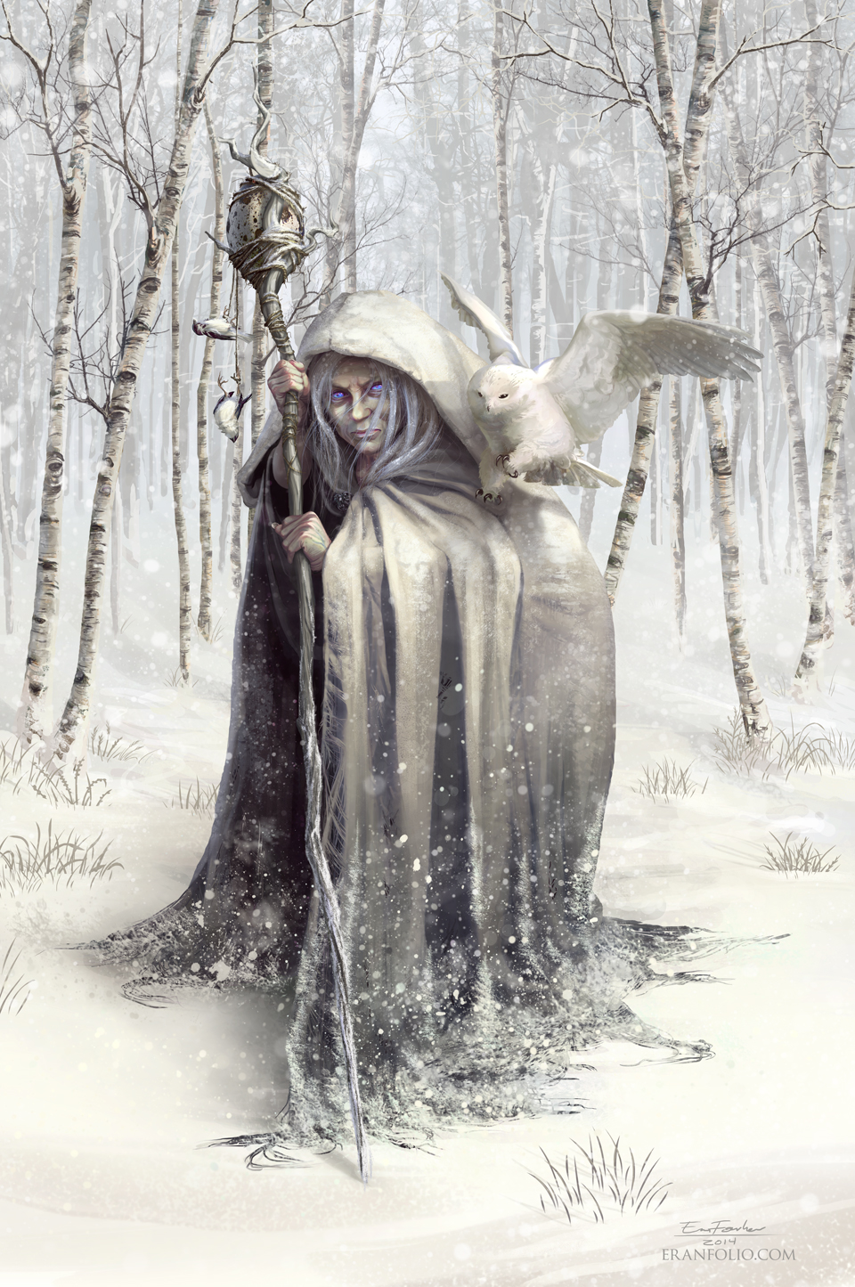 Witch of the White Wood by EranFolio