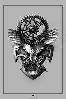 Gears Tattoo by EranFowler