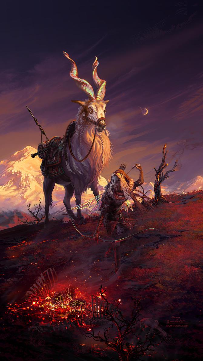 Hunting the Wyrm by EranFolio