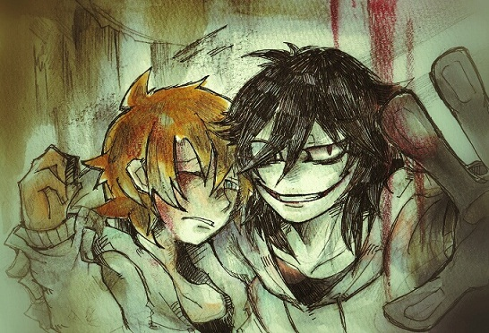 Jeff the killer and Normal Jeff by Mitsuki-Chizu