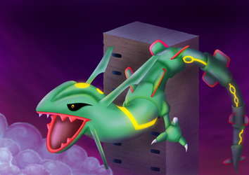 Pic #047 - Rayquaza and Sky Pillar by Lugia010719d1