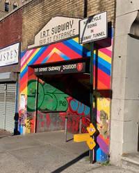 Colorful Subway Stop by LittleDeez-SP