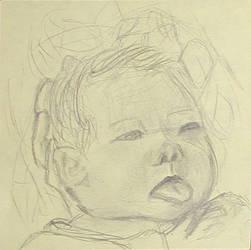 Baby Kae Kae on a Post it note by Kaelia