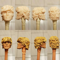 Cast He-man head for a 2000 MOTU project.