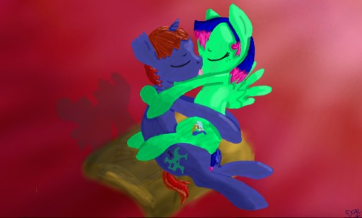 Camo and Kairu Kissing by DaleyMuffins