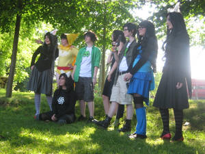 Homestuck cosplayers