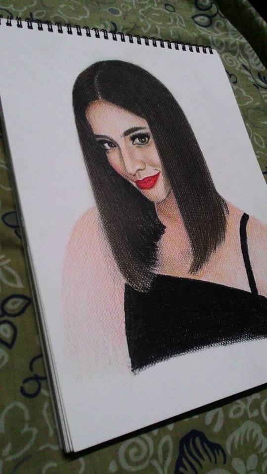 anne curtis colored portrait by rachdeart