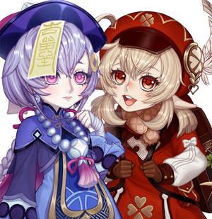 Qiqi and Klee fanart