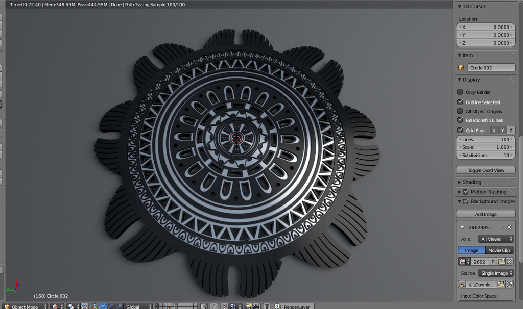 Mayan Sun Symbol For 3d Printing By Unclesub On Deviantart