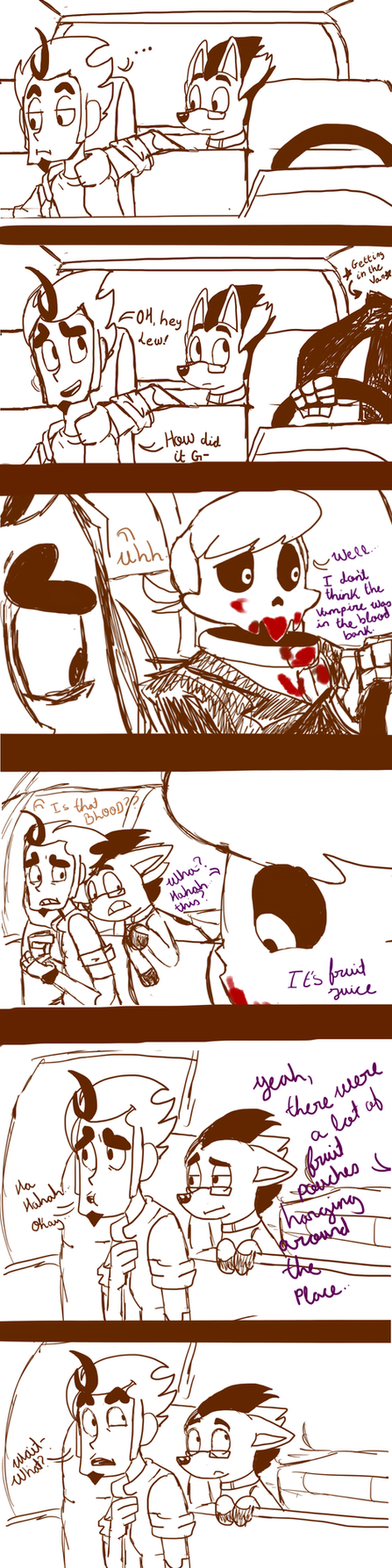 Maybe the blood bank was not the best idea by Bluetita