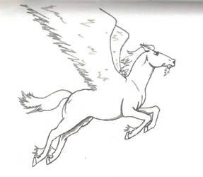 Leaping pegasus