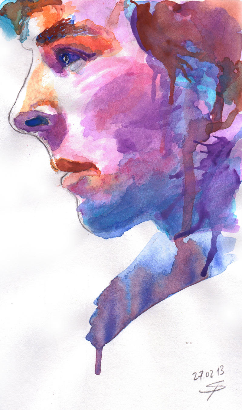 Sherlock: Watercolor by Shingel