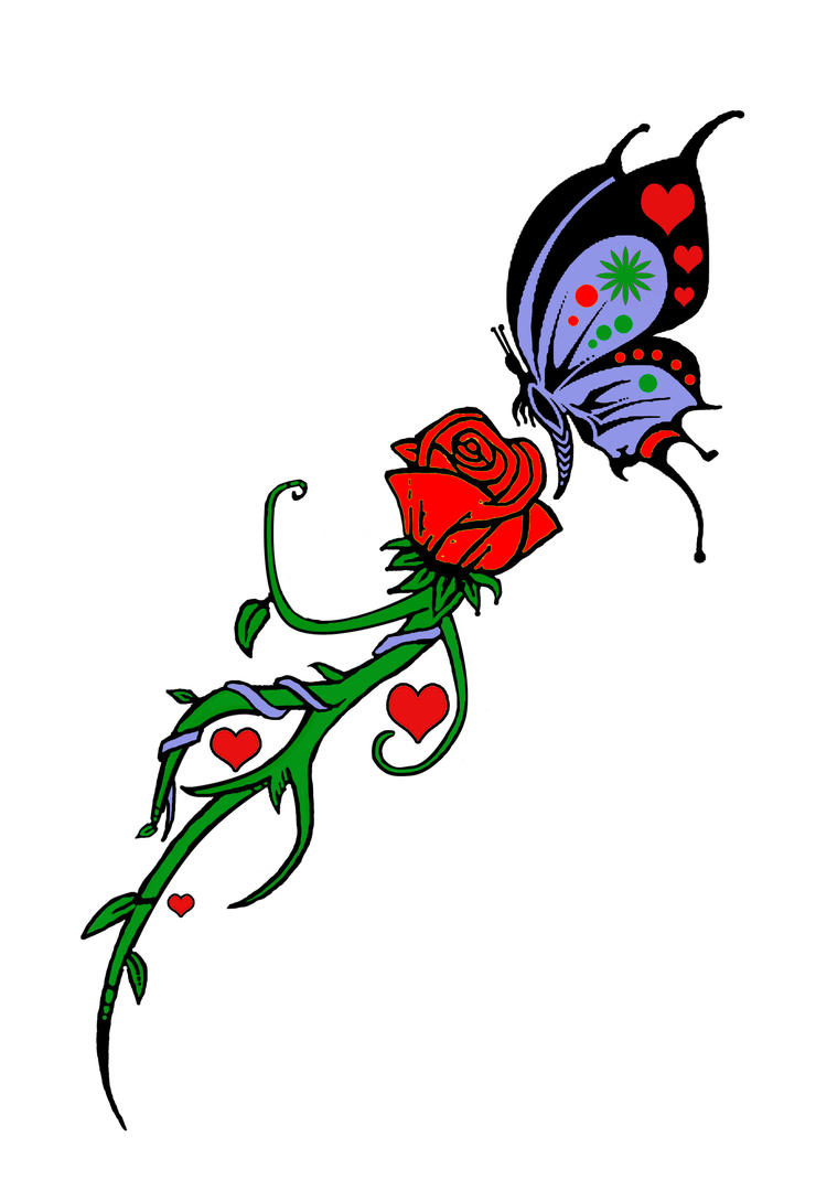 Rose and Butterfly Tat...