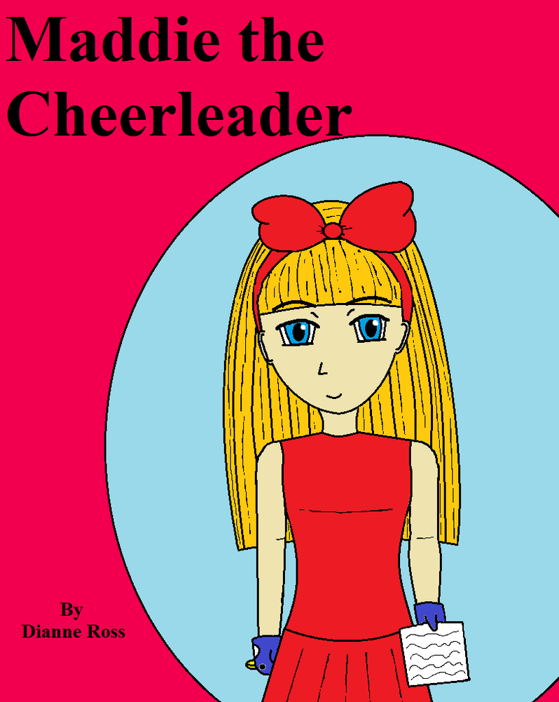 Children S Book Covers Art : Maddie the cheerleader fake children s book cover by