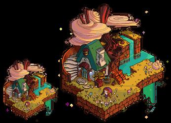 Pixel-art environment