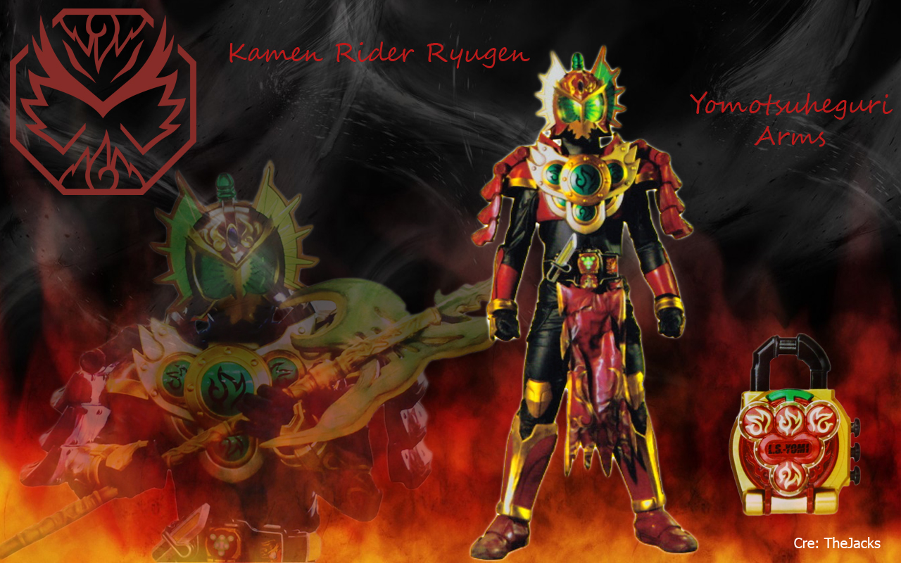 kamen rider ryugen yomotsuheguri arms by thejacks1997 on