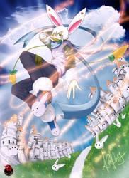 Twist in Wonder White Rabbit by cacingkk