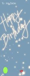 Happy Birthday Iris by cacingkk