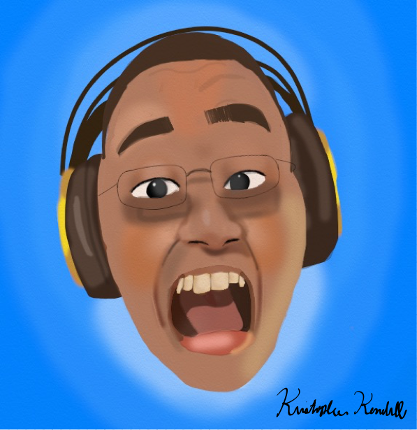 Self-Portrait (with headphones, for some reason)