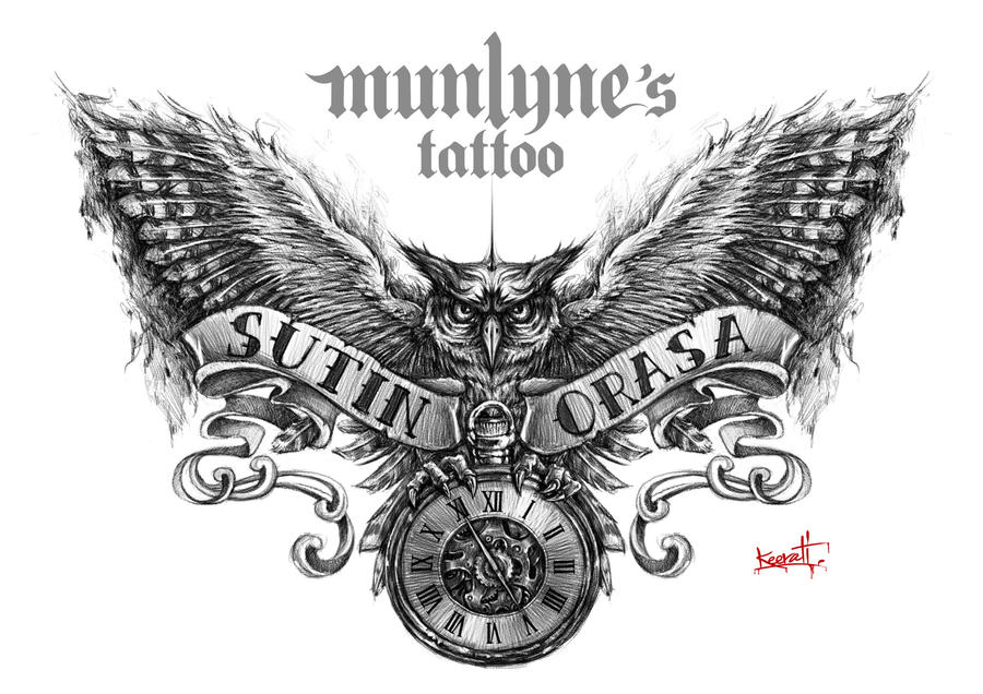 Owl Tattoo Design By Munlyne On Deviantart