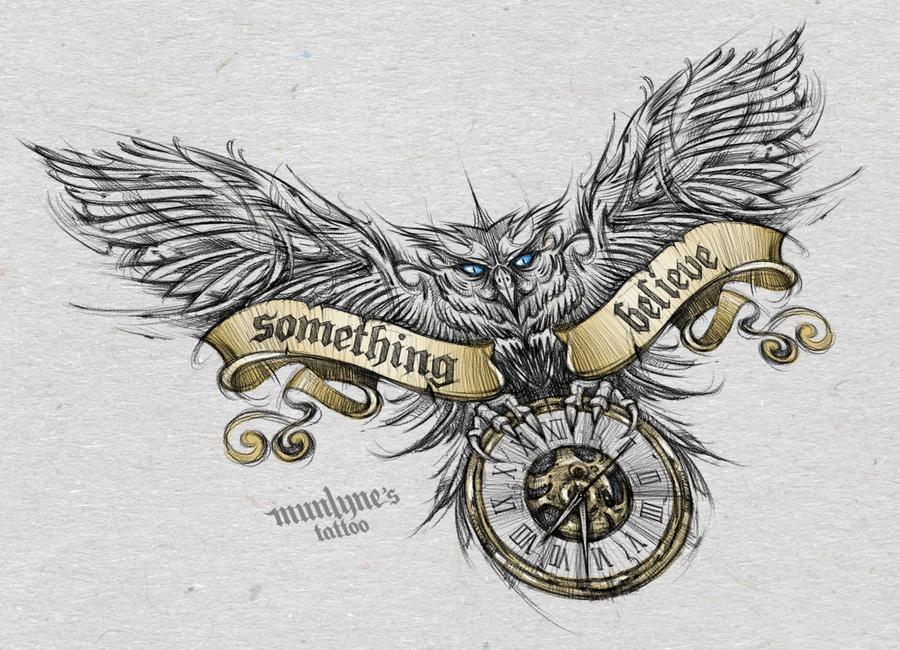 Owl Sketch by munlyne