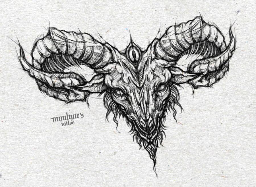 Satanic Goat Skull Drawing – Wonderful Image Gallery