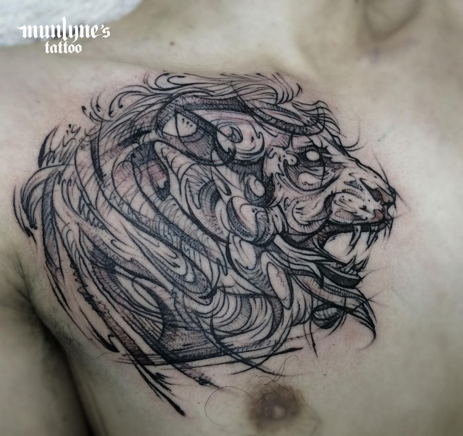 Lion Chest 01 by munlyne