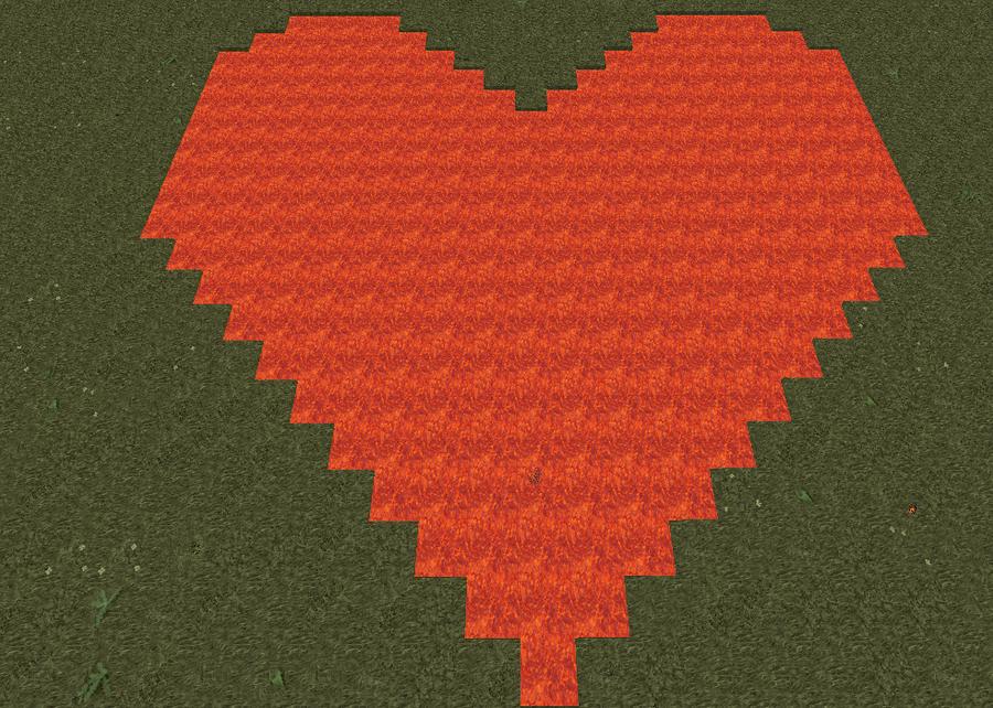 Minecraft heart wallpaper