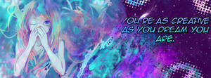 FB Cover: Creative as you dream by BobOfTibia