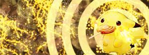Facebook Cover: Pikachu Lolipop Orange