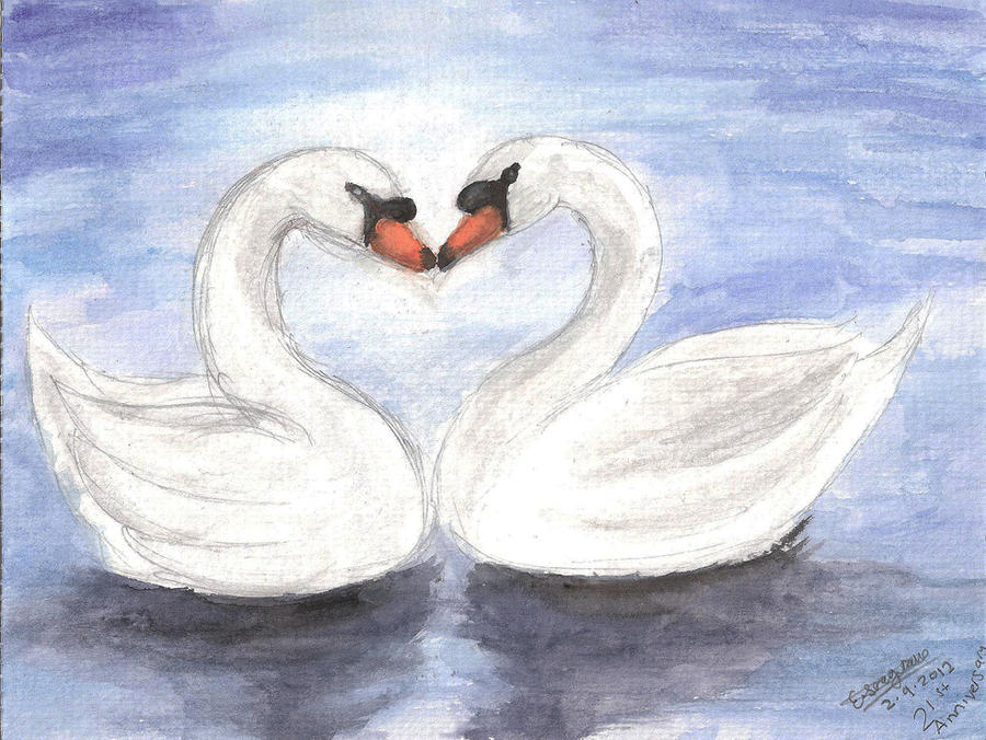 How To Draw A Swan In Water