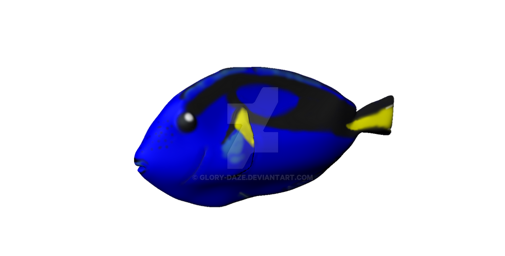 3d royal blue tang dory by glory daze on deviantart for Royal blue tang fish