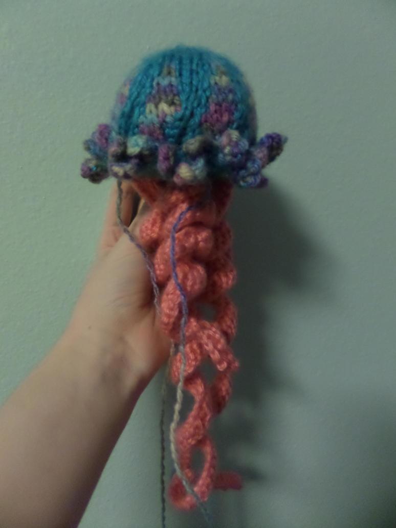 Knitting Pattern For Jellyfish : Multicolored Knit Jellyfish by maddinja on DeviantArt