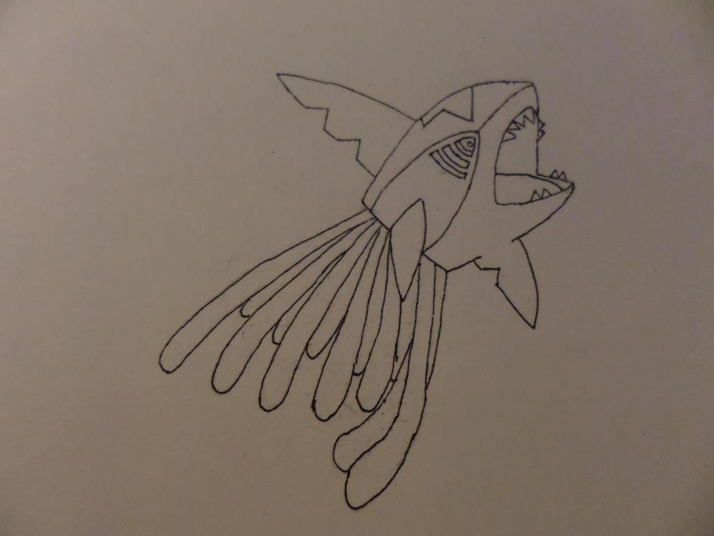 Sharptacruel (Pokemon Sharktopus) by maddinja