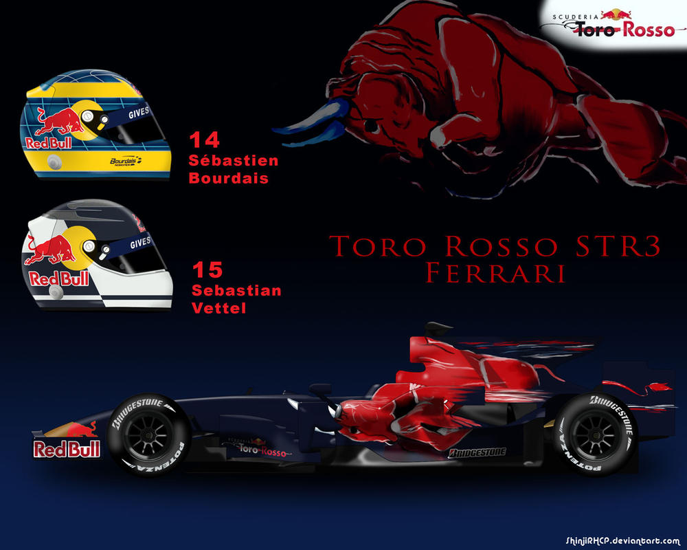Scuderia Toro Rosso STR3 by ShinjiRHCP