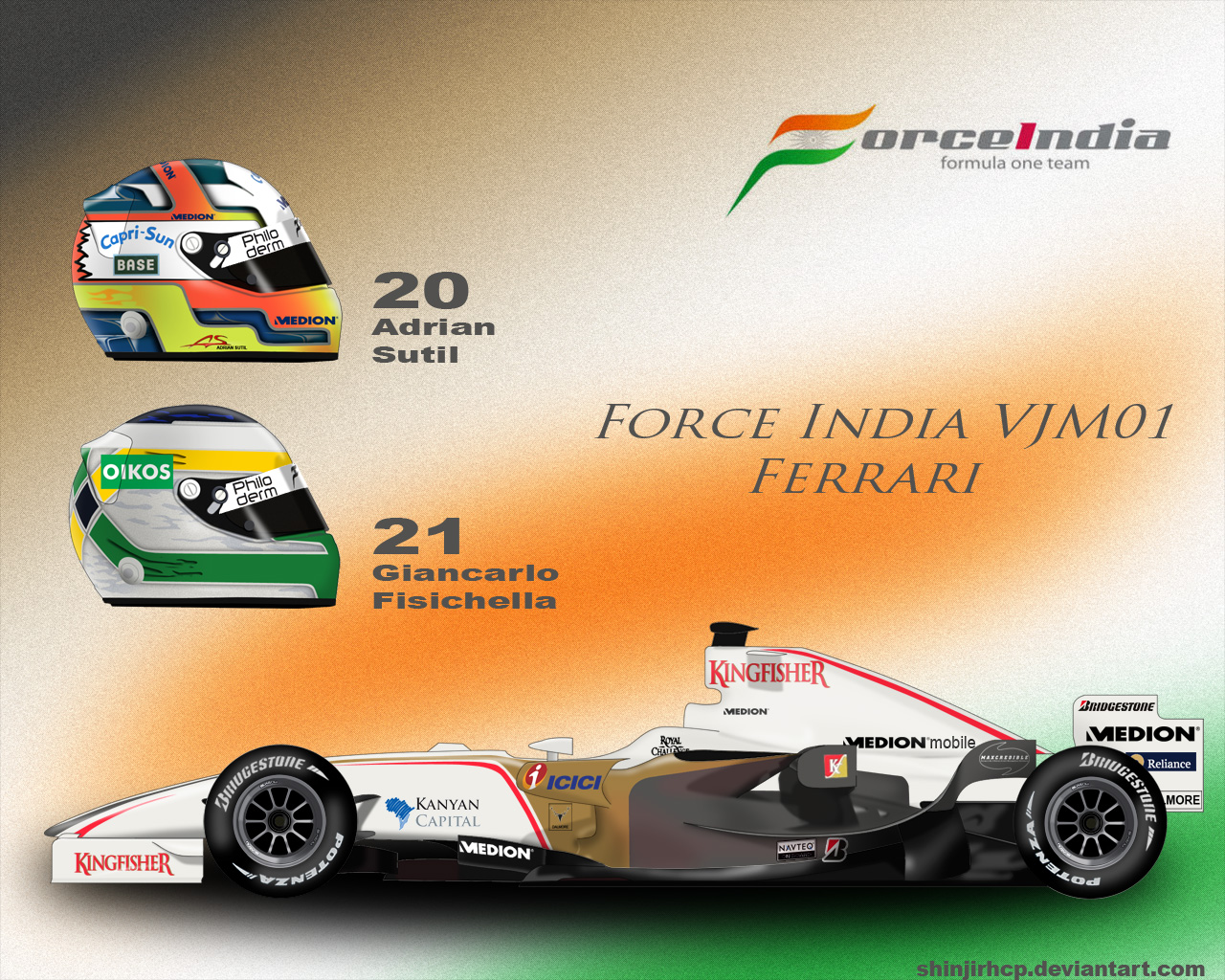 Force India VJM01 by ShinjiRHCP