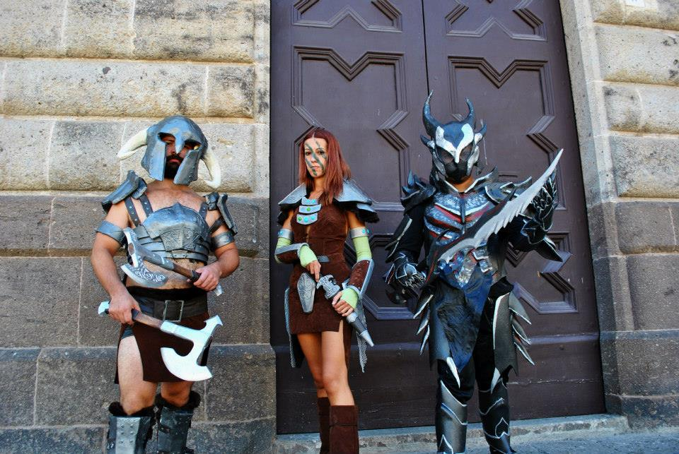 Skyrim - warriors at the door by ShinjiRHCP
