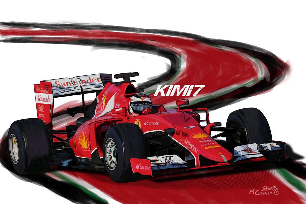 Ferrari SF15-T - Kimi7 by ShinjiRHCP