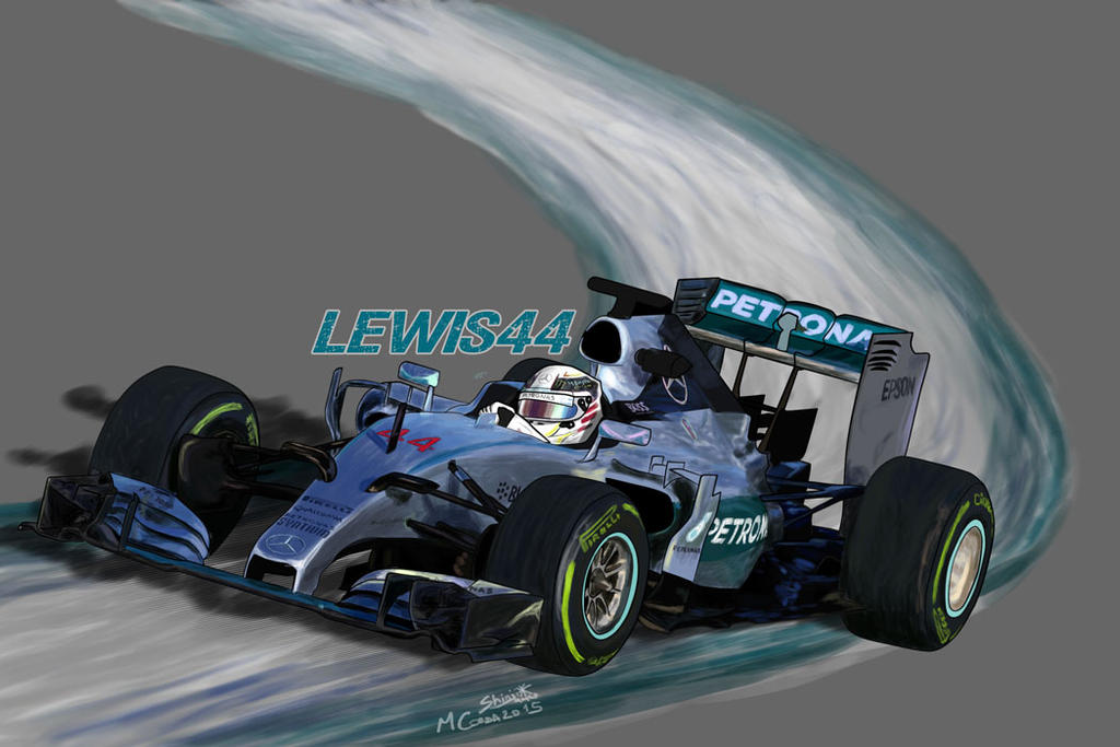 Mercedes W06 - Lewis44 by ShinjiRHCP