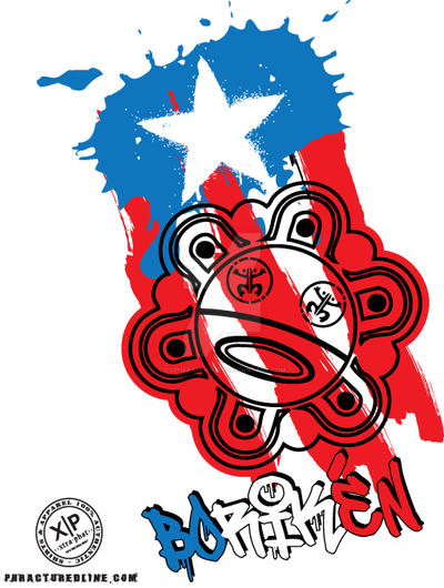 X-TRA PHAT Puerto Rico Tee by cypherallah777