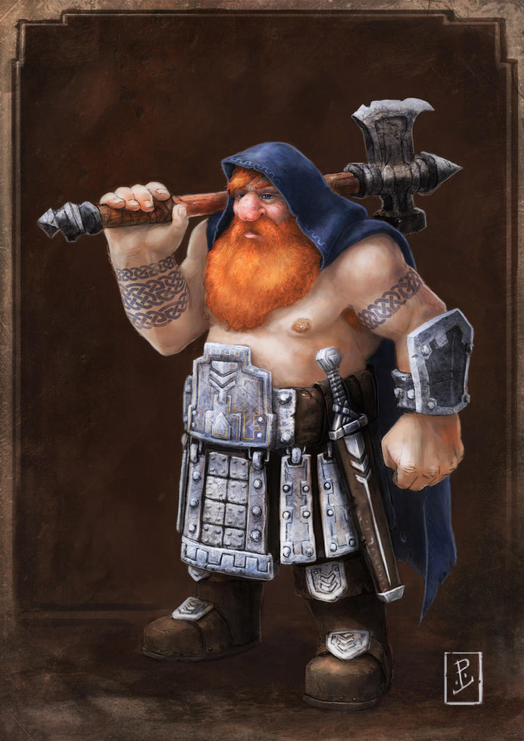 Dwarven Warrior by LyntonLevengood