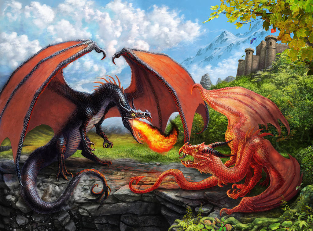 Duelling Dragons by LyntonLevengood
